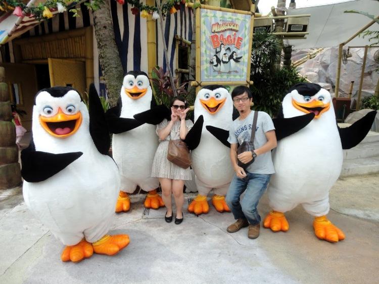 環球影城內的放大二倍版的企鵝笨蛋們
