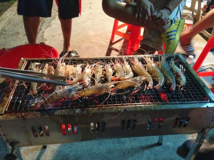 與內文無關的中秋節烤蝦