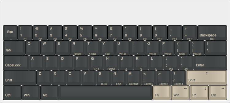 pok3r update with arrow keys