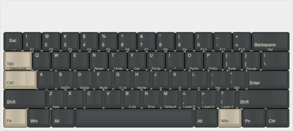 pok3r update with ctrl on capslock