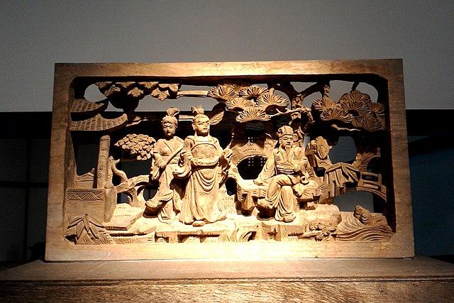 640px-藝師館內的「孔明安居平五路」木雕